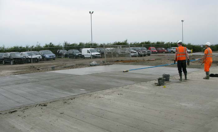 Concreting Yard by Essex Farm Services